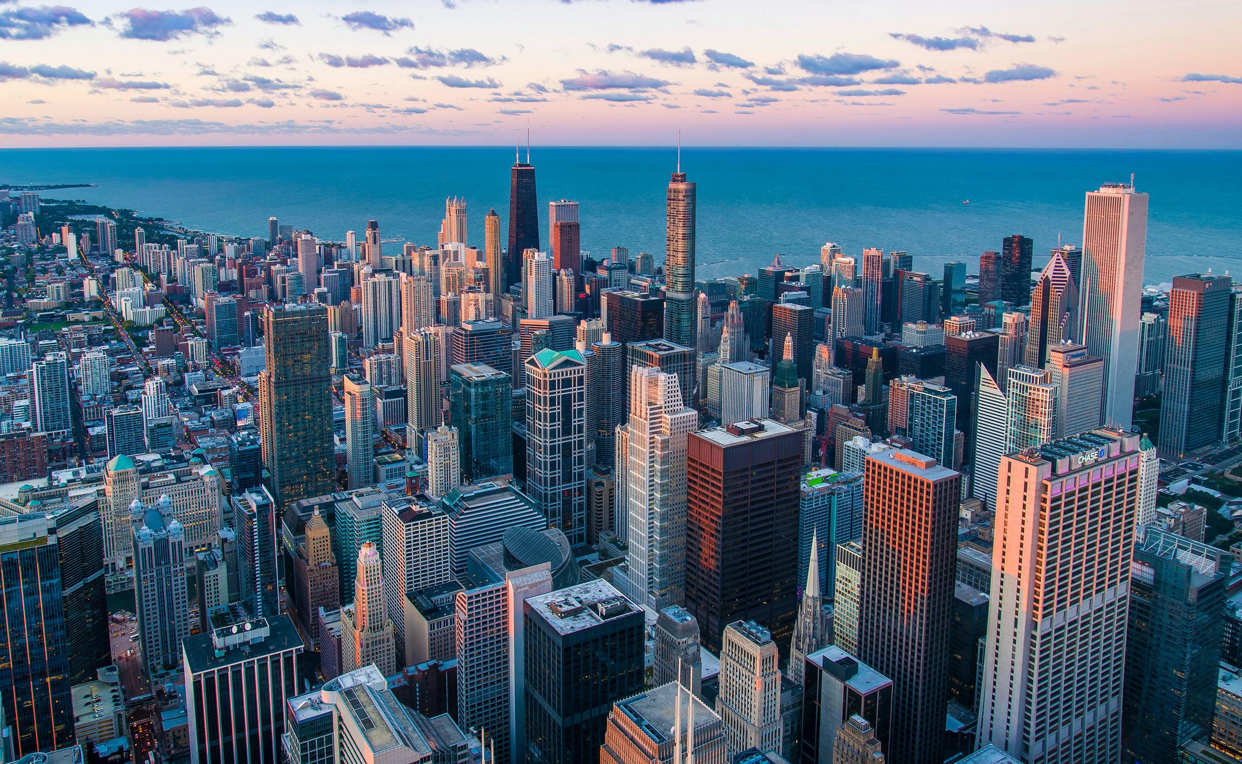Bird's eye view of Chicago