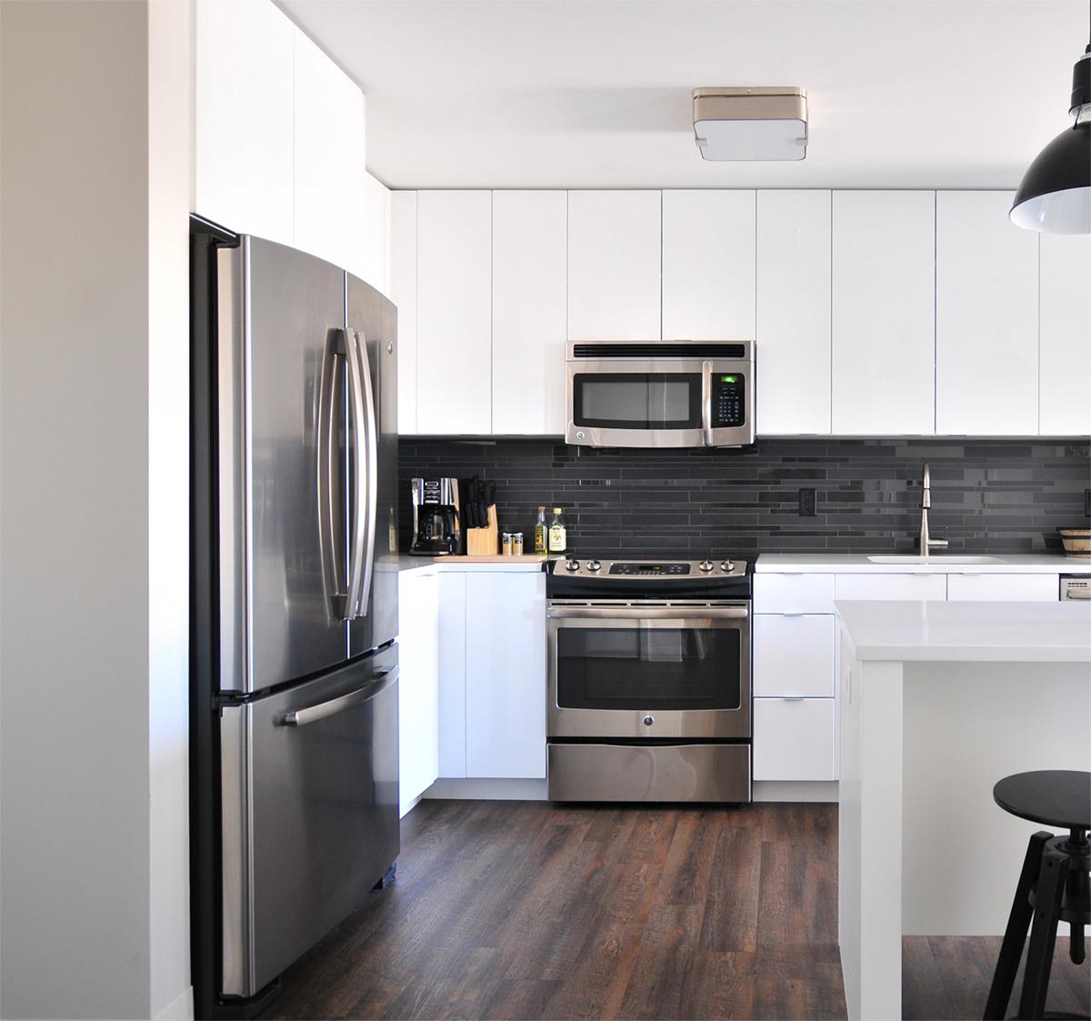 Bright kitchen setting