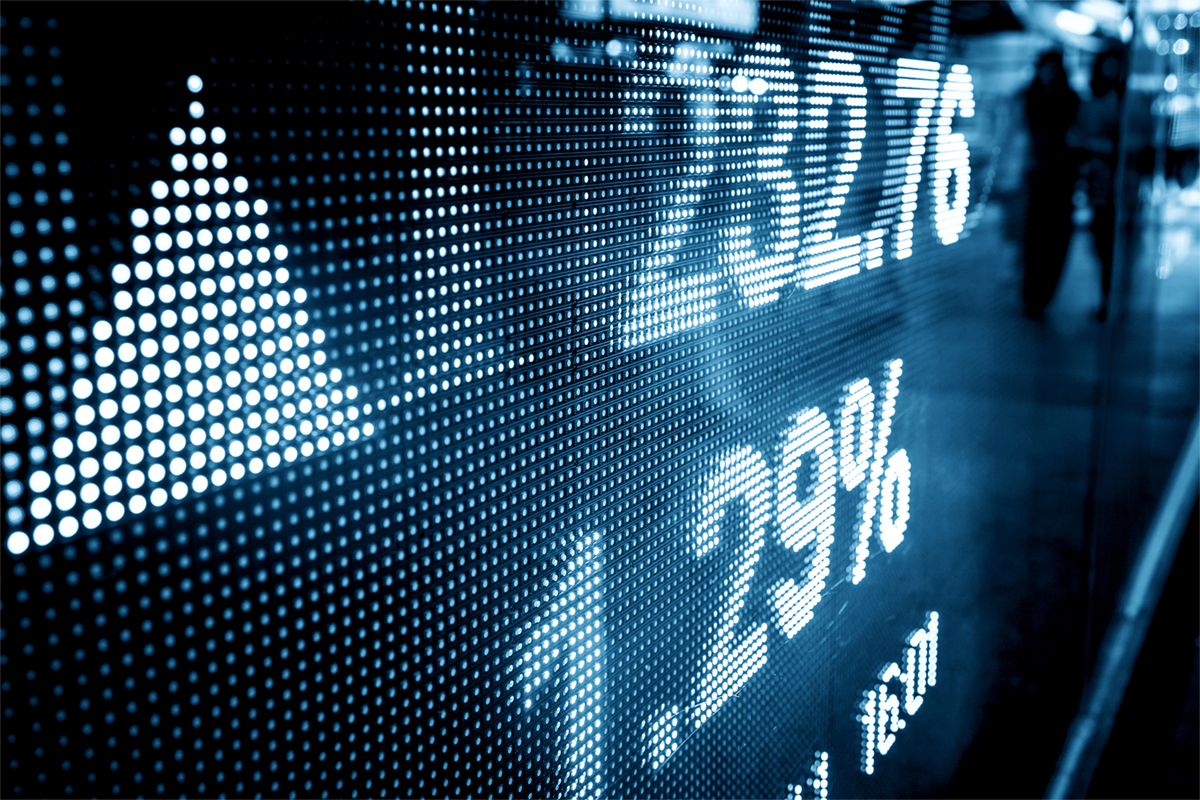Market scores on screen